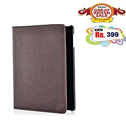 BMS 360 Degree Rotating Leather Smart Cover Case Stand for Samsung Galaxy Tab 3 Neo 7 inch T111 (Brown)