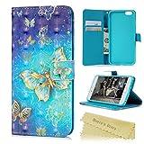 iphone6 plus(5.5インチ)ケース Mavis's Diary 横置き 耐久性 保護ケース 吸着の機能 スタンド 手帳型 PUレザーケース 胡蝶