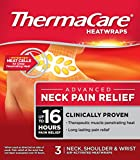 ThermaCare Therapeutic Heat Wraps for Pain Relief - Neck,Shoulder and Wrist -3 Wraps