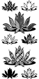 Inkadinkado Patterned Lotus Flowers Clear Stamps