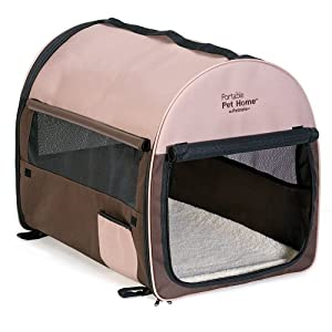 Petmate Portable Pet Home, Intermediate, Dark Taupe/Coffee Grounds Brown