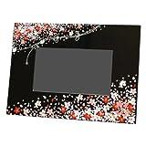 【Amazonの商品情報へ】蒔絵DPF(デジタルフォトフレーム)花束(黒)