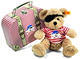 Steiff Fynn Teddy Bear Pirate in Suitcase (Beige)