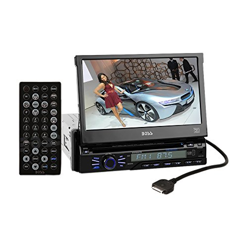 """Boss In-Dash 7"""" Touchscreen Tft-Lcd Car Flip-Up Monitor With Bluetooth, Front Mini-Usb And 3.5Mm Aux Input"""