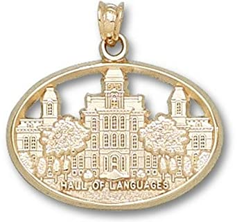 Syracuse Orangemen Hall of Languages Pendant - 14KT Gold Jewelry by Logo Art