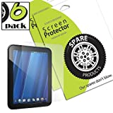 Spare Products (6 Pack) of HP TouchPad Screen Protectors (CLEAR)