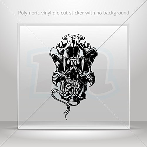 Sticker Monster Creature Decorative Motorbike Bicycle Vehicle ATV Racing Gara (45 X 25.2 In)