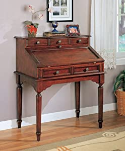 Coaster Beautiful Wood Secretary Office Desk Table with Storage Drawers