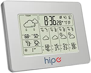 Hipo 7'' Digital 5 Day Wireless Internet Weather Forecast Station With Indoor and Outdoor temperature Display