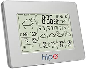 Hipe 7'' Digital 5 Day Wireless Internet Weather Forecast Station With Indoor and Outdoor temperature Display