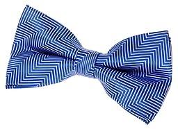 Retreez Herringbone Stripe Woven Pre-tied Bow Tie (5\