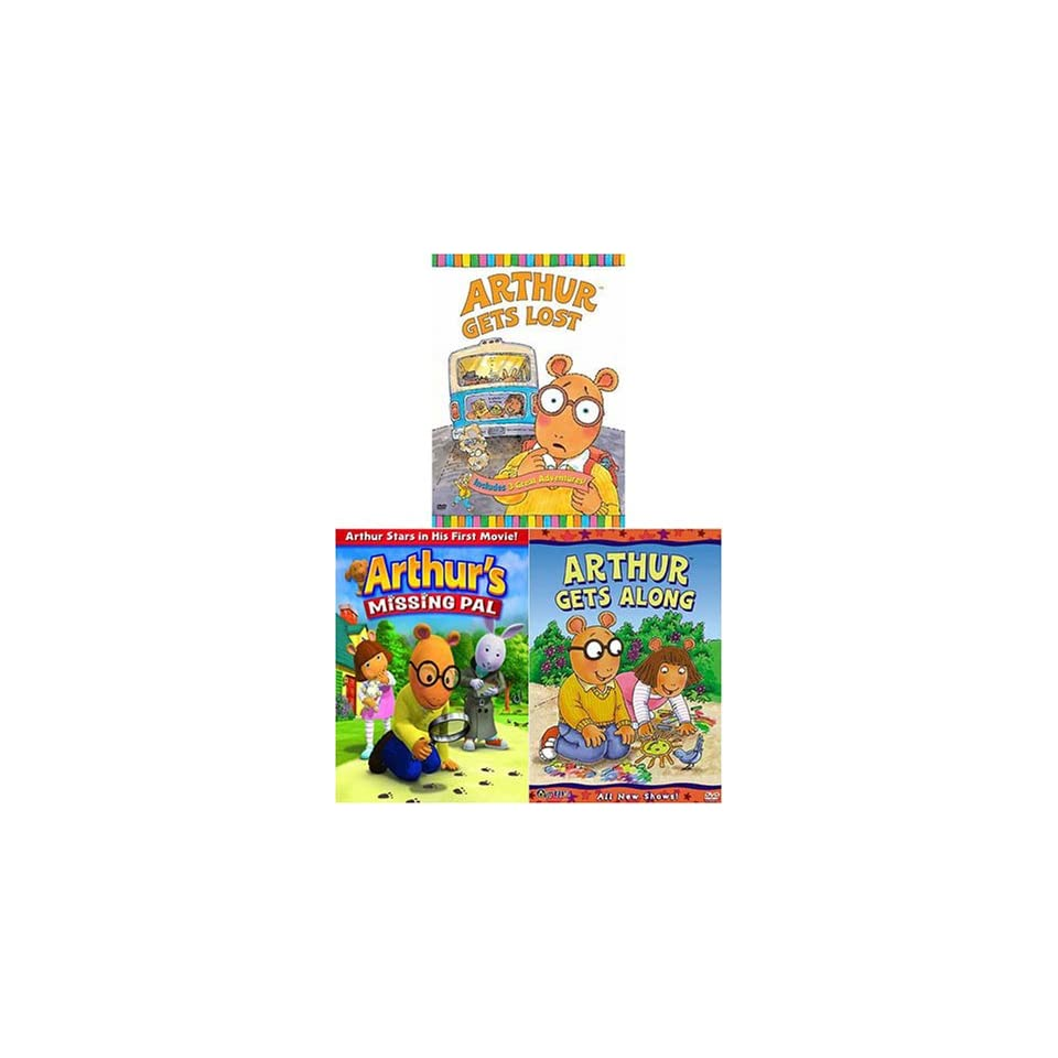 Arthur Gets Along / Gets Lost/Missing Pal (3 pack)