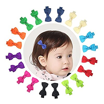 2 Inch 10 Pairs Baby Girls Small Hair Bows Alligator Clips for Toddlers Infants Kids Pigtails Barrettes