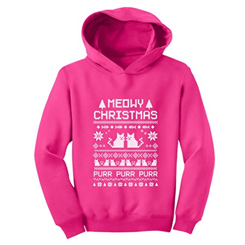 Teestars - Meowy Christmas Toddler Hoodie 4T Pink