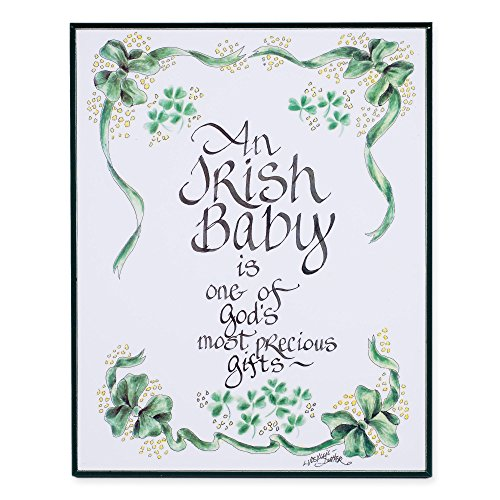 LPG Greetings Irish Baby Decor, Green/White/Black