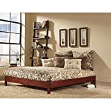Murray Platform Bed with Wooden Box Frame, Black Finish, Full