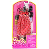 Barbie Dress Up Rose And Polka Dot Dress With Fashion Accessories