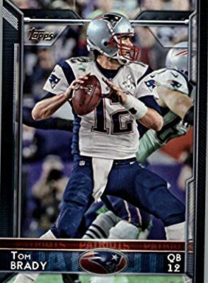 2015 Topps Tom Brady #125 - New England Patriots - NFL Trading Card In a Protective Screwdown Case!