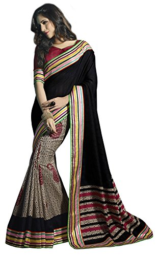 VIPUL NEW FRAGRANCE SAREE-Black-SUT15458-VN-RawSilk