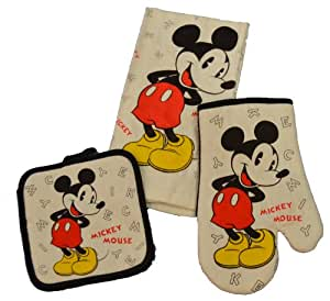 disney 3 kitchen set mickey mouse letters
