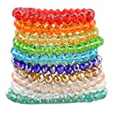 Assorted Crystal Beads Faceted Glass Beads Rondelles Spacer Charms DIY Bracelet Making Colorful (Size4:10mm(50pcs/pack))