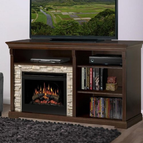 Dimplex Edgewood Electric Fireplace Entertainment Cabinet in Espresso photo B008LBEO4I.jpg