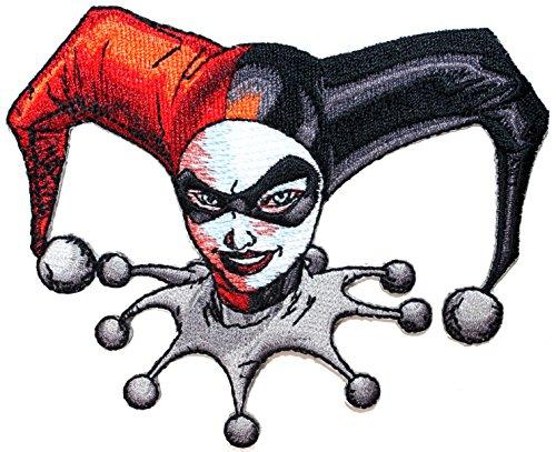 Harley Quinn Face Batman Villain Gotham Joker DC Comics Iron On Applique Patch