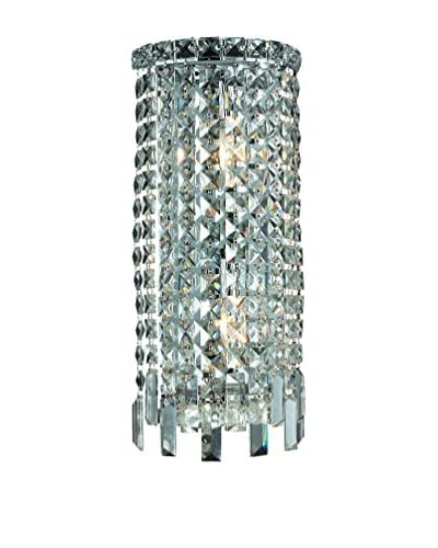 Crystal Lighting Maxim Collection 18 Wall Sconce, Chrome