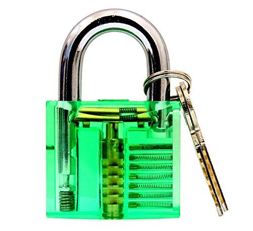 bullkeys nuovo mini lucchetto trasparente e colorata per giocatori/locksmithing pratica (Blu), Mini 3, 1