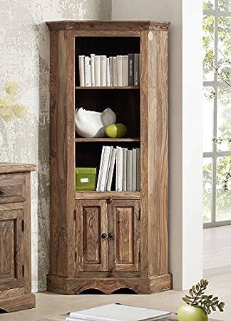 Coloniale mobile in legno massiccio Sheesham massiccio oliato palissandro grigio scaffale Möbel Robin #13