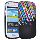 Einzige Colorful Soft Gel Flexible TPU Silicone Skin Case Cover for Samsung Galaxy S3 S III Mini I8190 (Meteor)with Free Universal Screen-Stylus - Don't fit for Samsung Galaxy I9300 III S3.