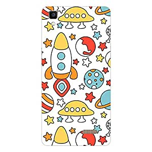 Garmor Designer Silicone Back Cover For vivo V1 Max
