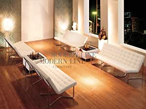 Modern White Leather Set Of Four Sofas And Two Multi Function Coffee Tables Kitchen
