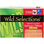 Wild Selections® Smoke Flavored Salmon Fillets in Olive Oil, 3.8 oz. tins inside cartonettes (12 pack)