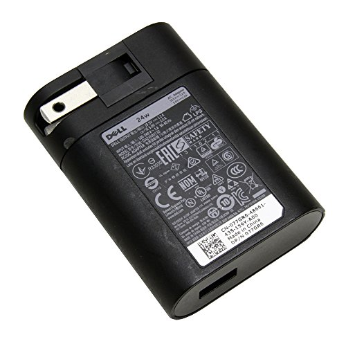 Dell Venue 11 8 7 Pro Tablet Charger AC Power Adapter Supply 24W DA24NM130 77GR6 077GR6 19.5V 1.2A or 5.0V 2.0A at Electronic-Readers.com