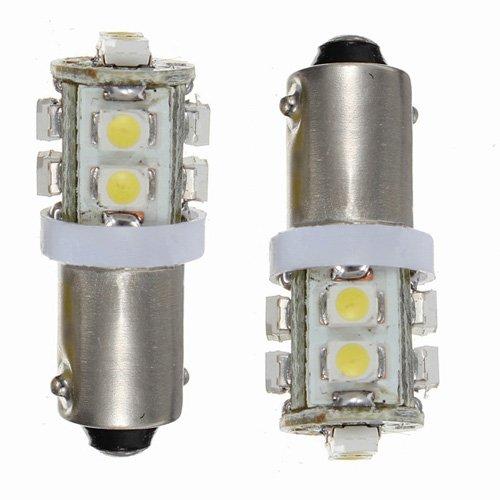 Sodial(R) 2X T11 Ba9S T4W 10-Smd Xenon White Hi-Power Led Side Light Lamp Bulb Car 12V Uk