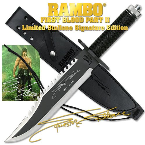 Jims Wall Mart Special Rambo Ii Sylvester Stallone Signature Edition Fixed Blade