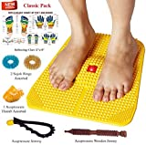 Acupressure Power Mat with Magnets n Pyramids for Pain Relief and Total Health Useful for Heel Pain - Knee Pain - Leg Pain - Sciatica - Cramps - Migraine - Tonsils - Depression With Acupressure Health Care Products - Freebies (PREMIUM-II) BY ESCOR Byzantine International Private Limited -- 'Super INDIA Store'