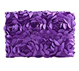 Newborn Baby Photography Photo Props 3D Rose Flower Backdrop Beanbag Blanket Rug (Purple)