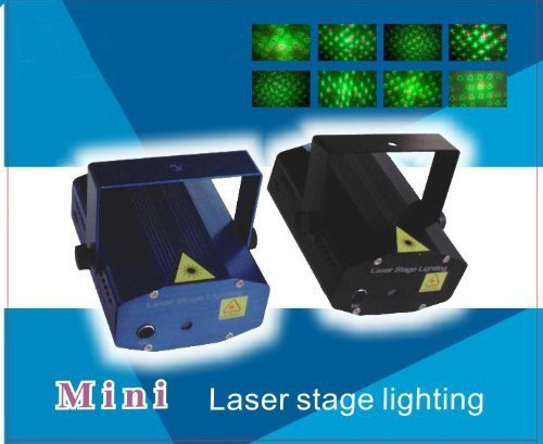 Dashuhuwai(Tm)4 Pattern Led Mini Stage Light Laser Projector, Voice-Activated Version, Fda & Amazon Standards Laser Type: Class Iiir/Mini Laser Stage Lighting Dj Bar Club Pub Disco Dancing Party Show Effect Light / Mini Mixed Red&Green Stage Lighting Proj