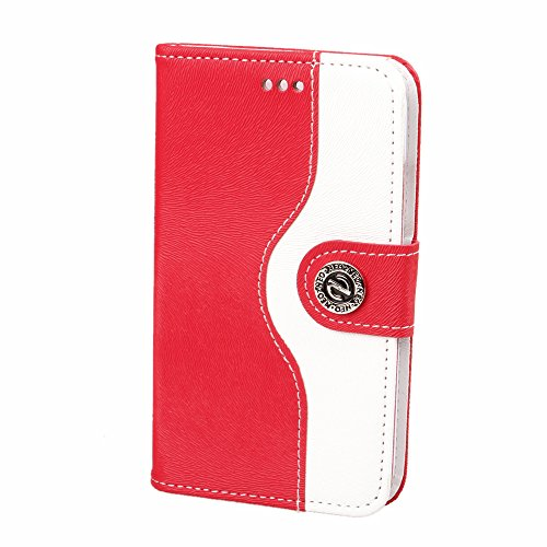 Mylife Scarlet Red {Cowgirl Design} Faux Leather (Card, Cash And Id Holder + Magnetic Closing) Slim Wallet For The Iphone 5C Smartphone By Apple (External Textured Synthetic Leather With Magnetic Clip + Internal Secure Snap In Hard Rubberized Bumper Holde