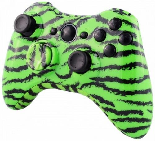 все цены на Designer Hydro Dipped Controller Replacement Shell for XBOX 360 Green Tiger