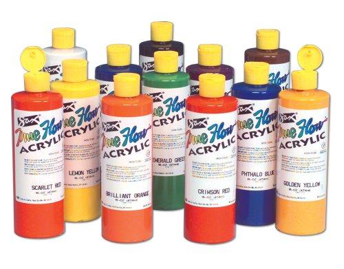 Sax True Flow Acrylic Paint - Pint - Set Of 12 - Assorted Colors front-1019952