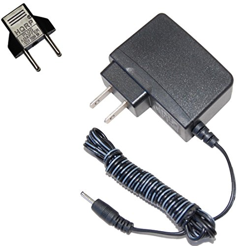 HQRP AC Adapter for No! No! NoNo Hair Removal System Model 8800 8810 8820 DC Power Supply Cord Cable PS Wall Charger Mains PSU Adaptor + Euro Plug Adapter