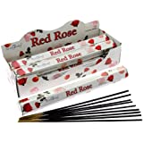 Stamford Red Rose Incense, 20 Sticks x 6 Packs