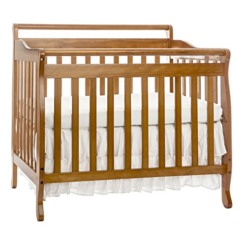 Dream On Me, 3 in 1 Portable Convertible Crib, Oak - 1