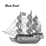 Gogomg Black Pearl: Metal Earth 3D Laser Cut Pirate Miniature Model Kit