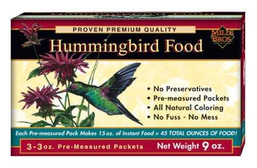 Mills Brothers Hummingbird Food 3-Ounce Packet, 3-Pack