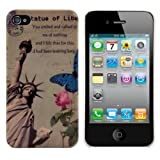 Hard case City design (New York) for Apple iPhone 4 / 4S - from kwmobile