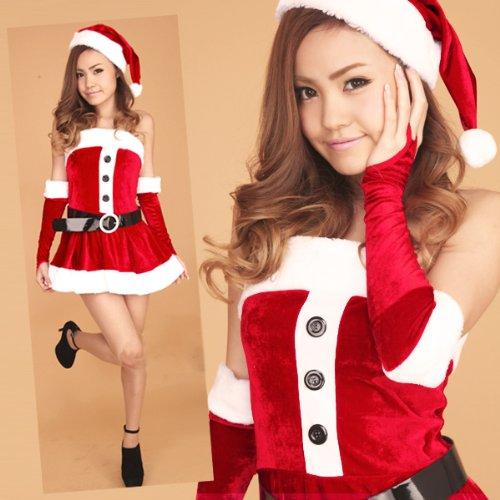 サンタ コスプレ・クリスマス サンタ コスチューム レディース sd50